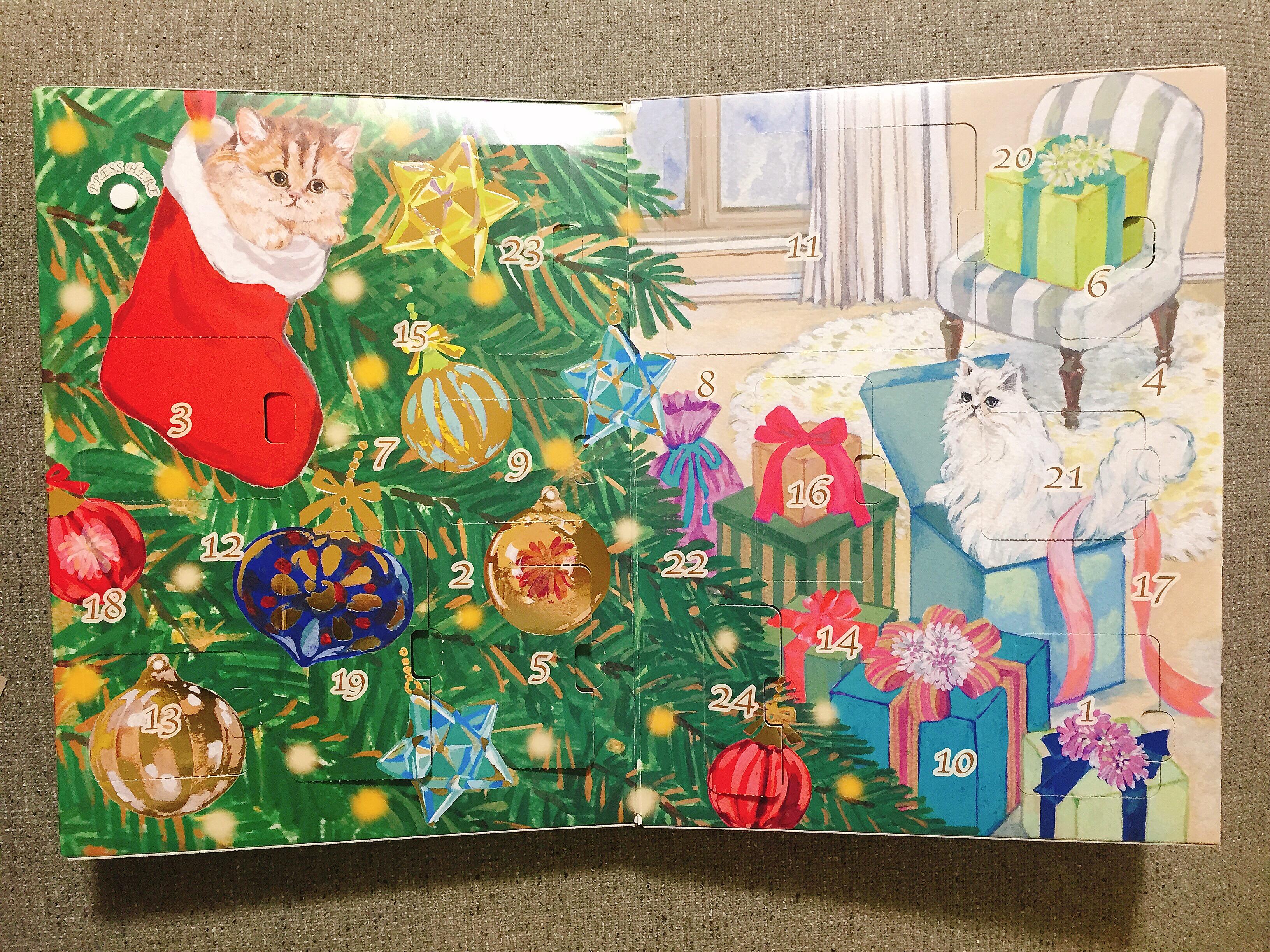 クリスマスプレゼントに貰ったPAUL&JOEコフレのアドベントカレンダーがかわいすぎるのでレポートします♡