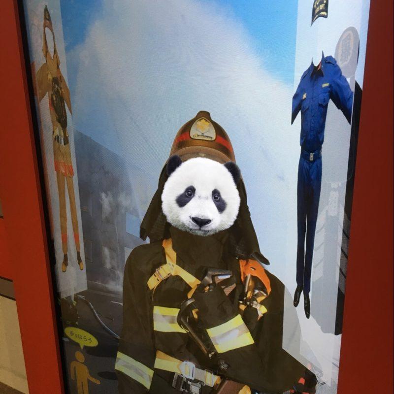 消防博物館のコスプレ