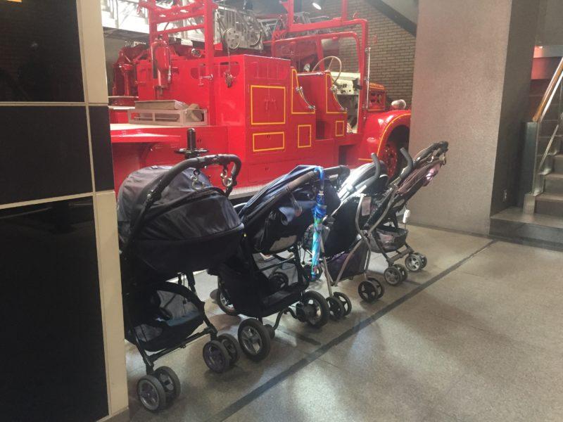 消防博物館のベビーカー置き場