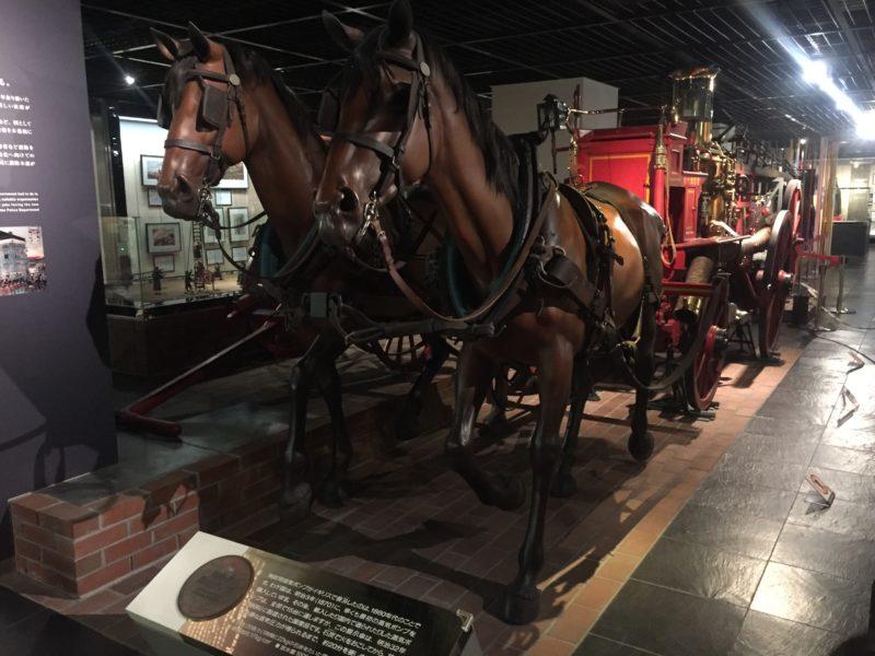 消防博物館の馬車