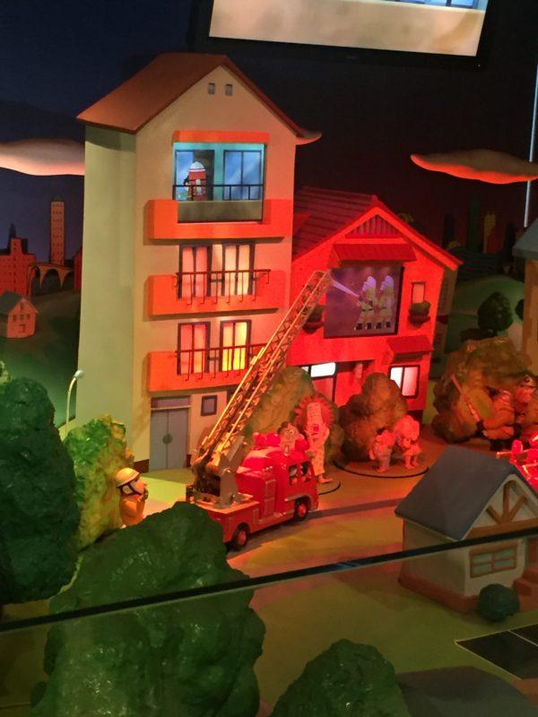 消防博物館のショーステージ