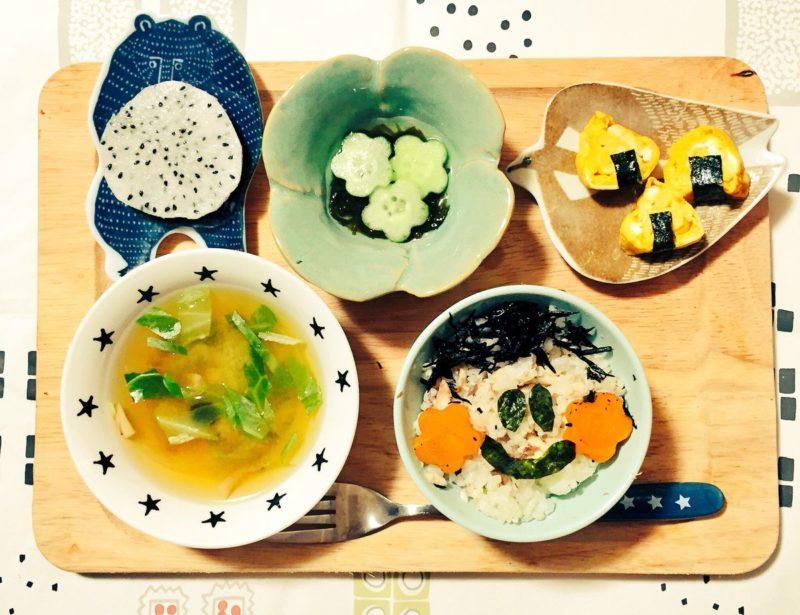 秋刀魚ご飯のこどもごはん