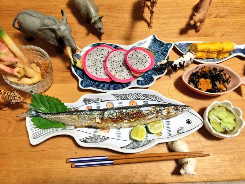 秋刀魚の献立