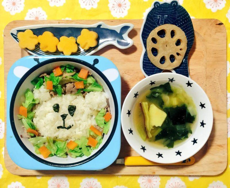 野菜炒めのこどもごはん