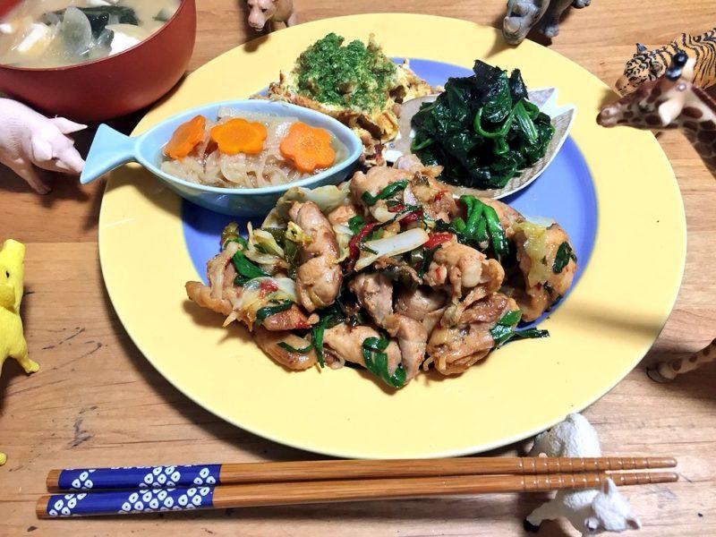 鶏肉の野菜炒めの献立
