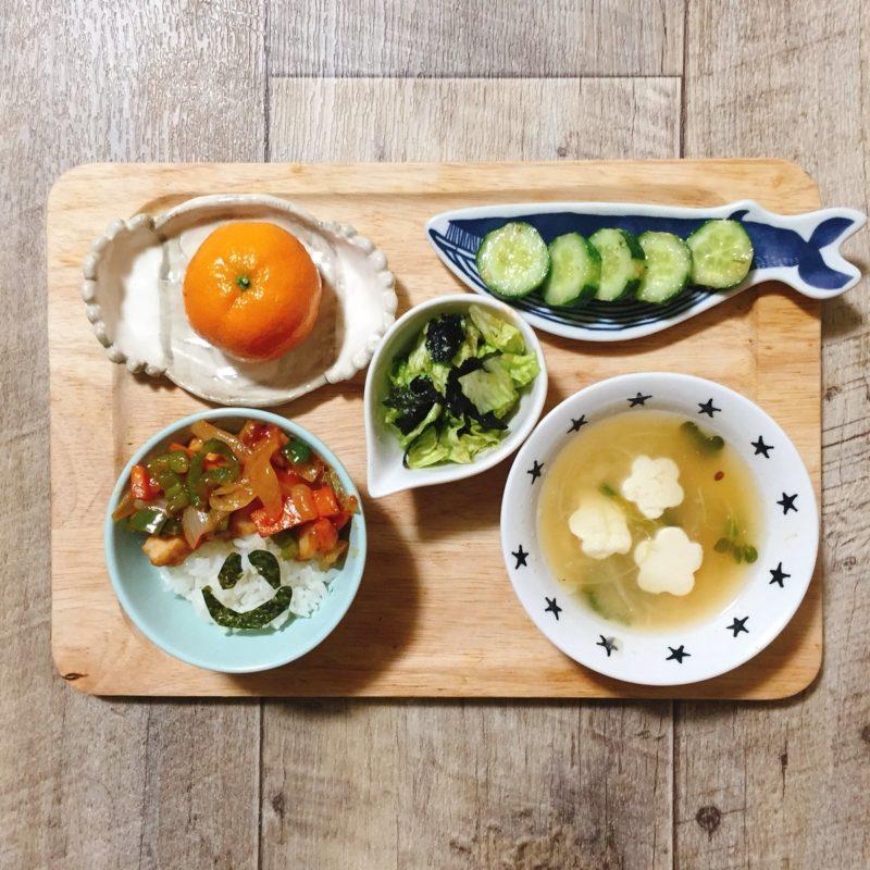 酢豚の子供ご飯
