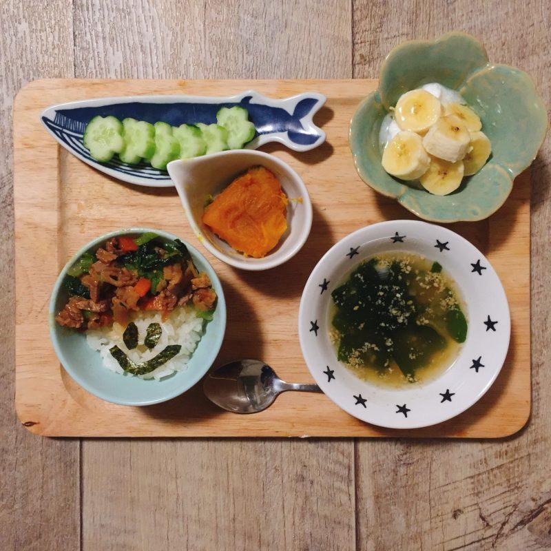 野菜炒めの子供ご飯