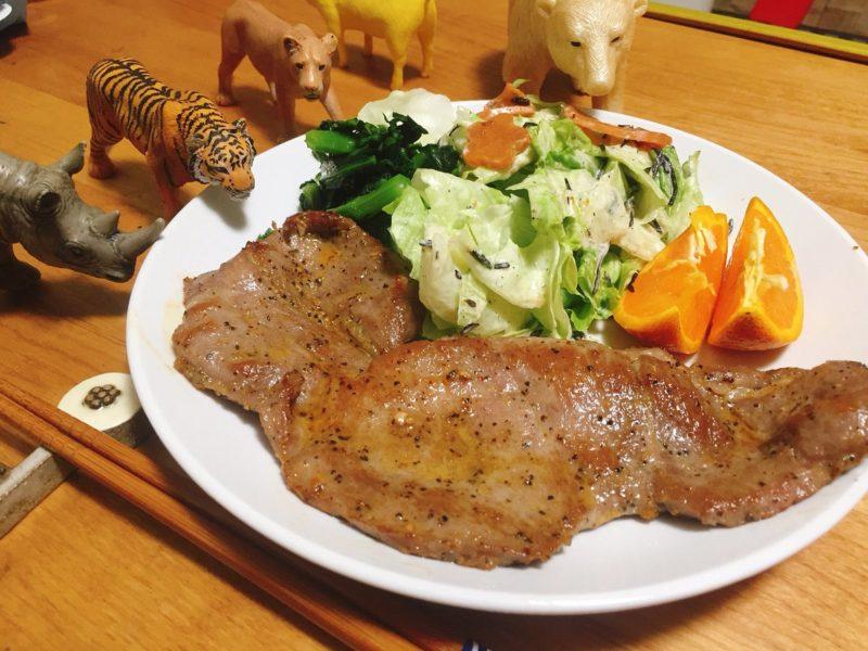 豚ステーキの献立