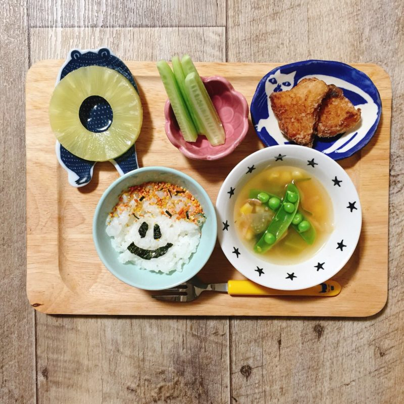 鰤の竜田揚げの子供ご飯