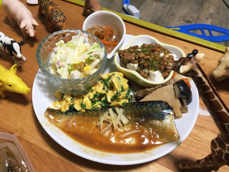 鯖の味噌煮の献立