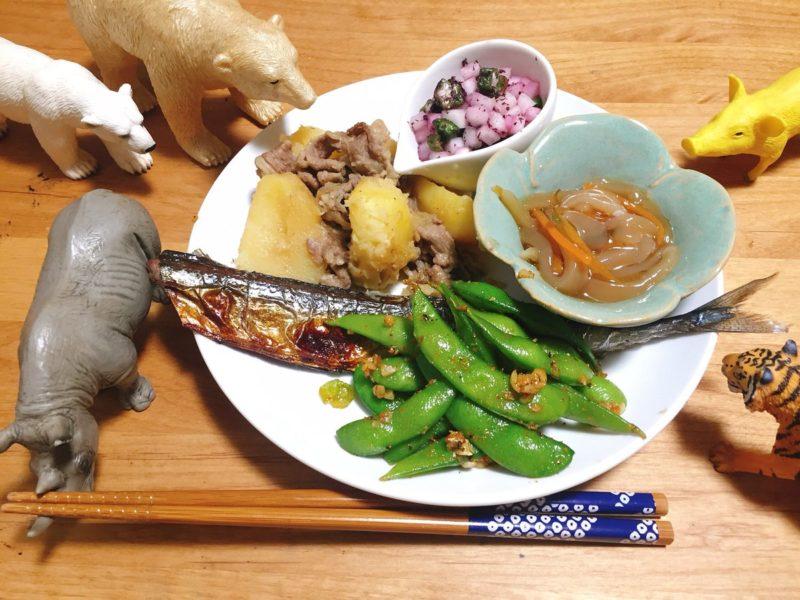秋刀魚の塩焼きの献立