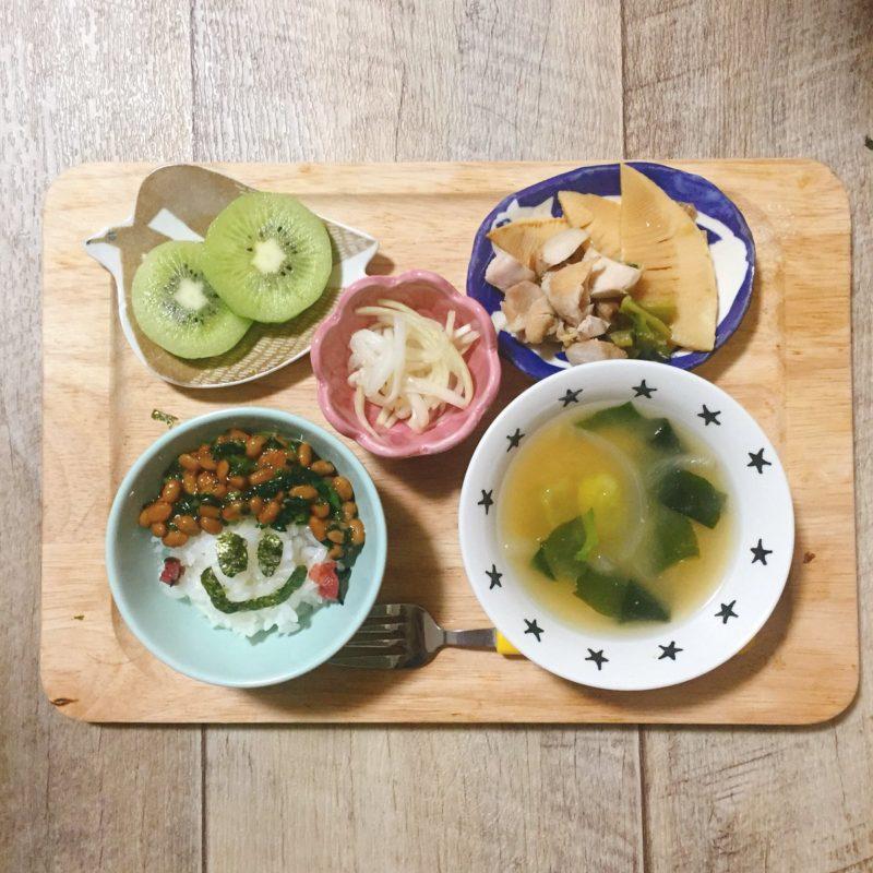 春菊の納豆ご飯の子供ご飯