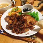 □豚肉の味噌漬け<br>□白菜の塩昆布和え<br>□スナックえんどうの献立