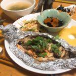 □鮭ときのこごはん<br>□ひじきの煮物<br>□きゅうりのゆかり和えの献立