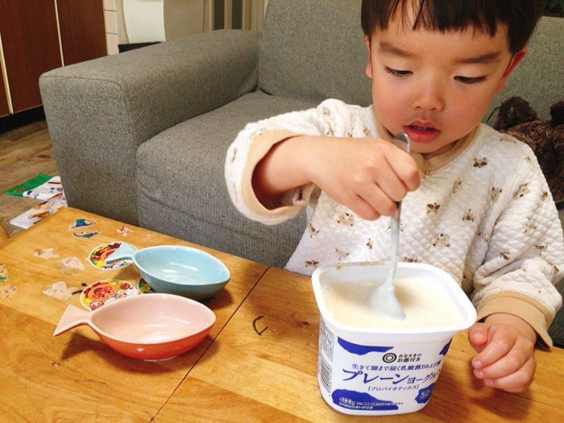 子供と一緒にヨーグルトアイス