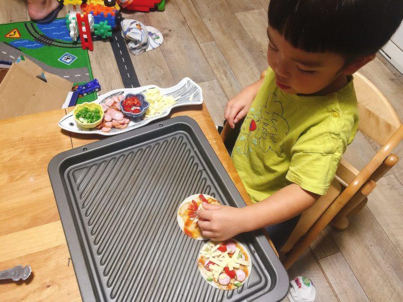 子供大好き餃子の皮ピザ