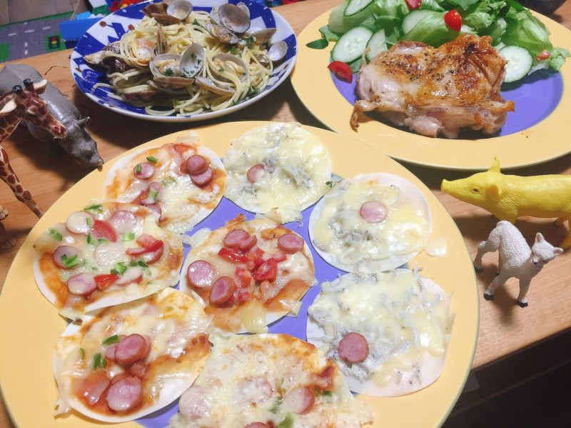 餃子ピザパーティー