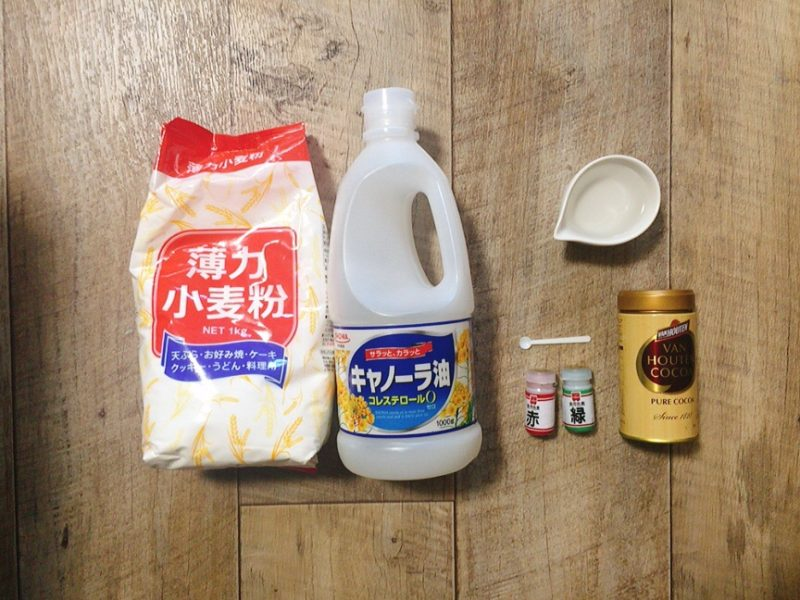 小麦粘土の材料