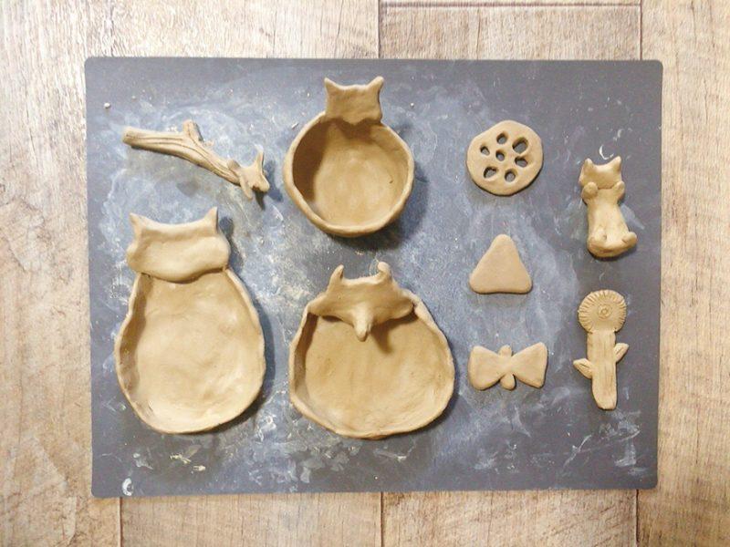 オーブン粘土で食器や箸置きを作る