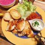 ラトビア料理風レシピと献立│ピンクのスープとしっとりむね肉のピカタ