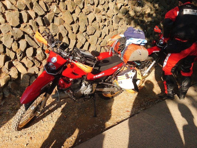 高尾山の消防バイク