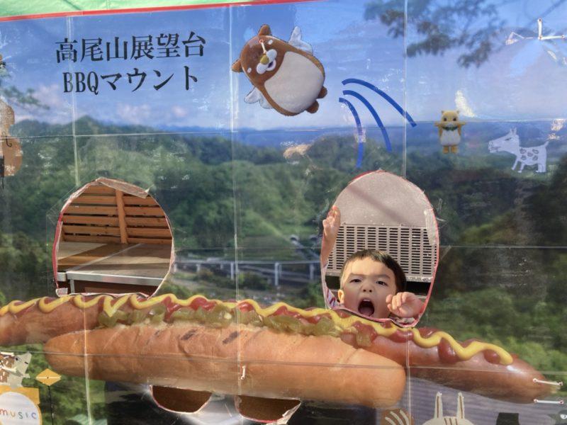 高尾山展望台BBQマウントの顔パネル