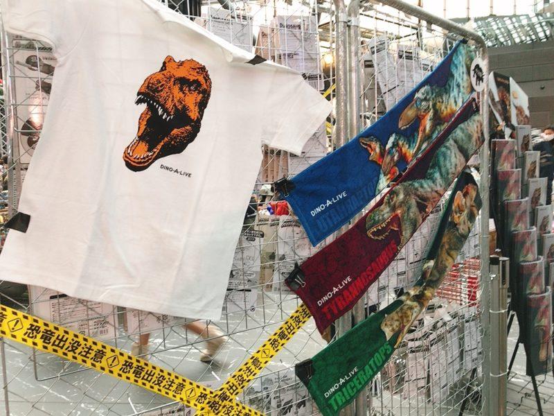 恐竜のお土産Tシャツとタオル