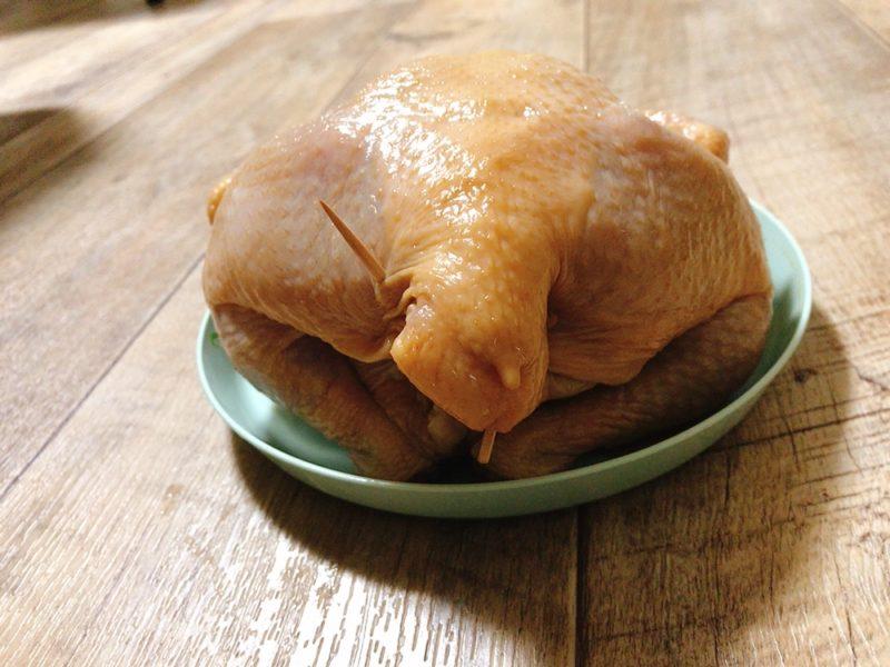丸鶏のおしりの止め方