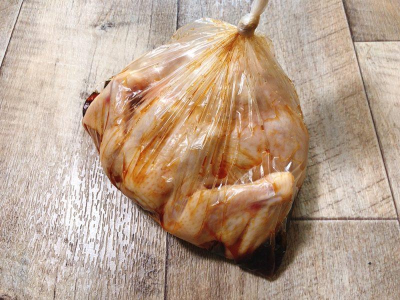 丸鶏の照り焼きローストチキンの漬け方