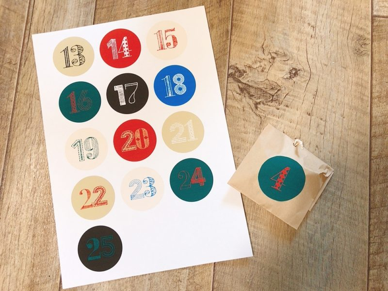 アドベントカレンダーを印刷