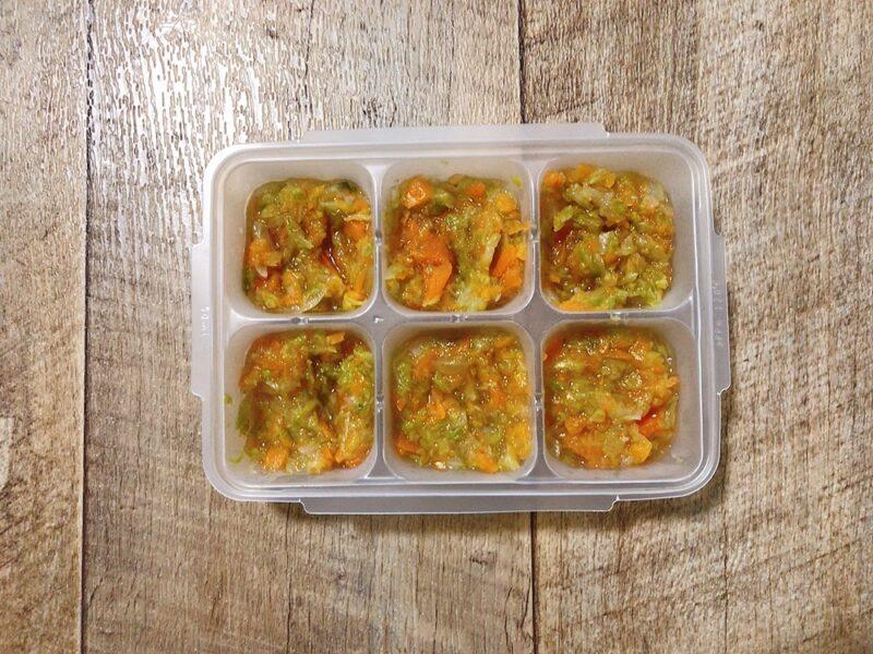 離乳食の野菜ミックスの冷凍保存方法